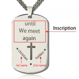 Titanium Steel Remembrance Dog Tag Name Necklace