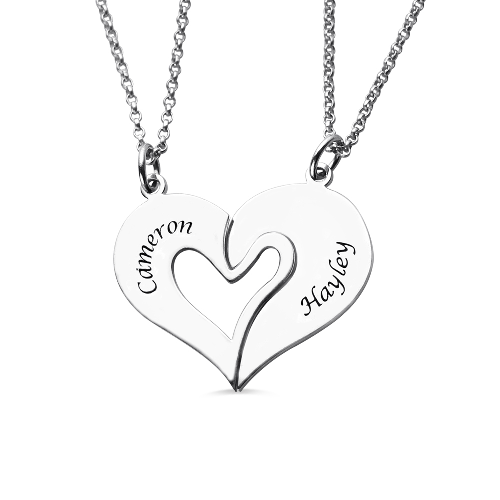 Couples Breakable Heart Necklace
