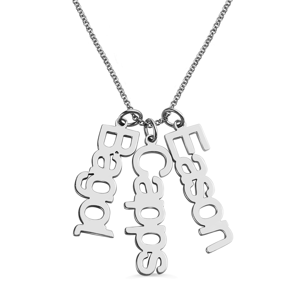 Vertical Multi Names Necklace