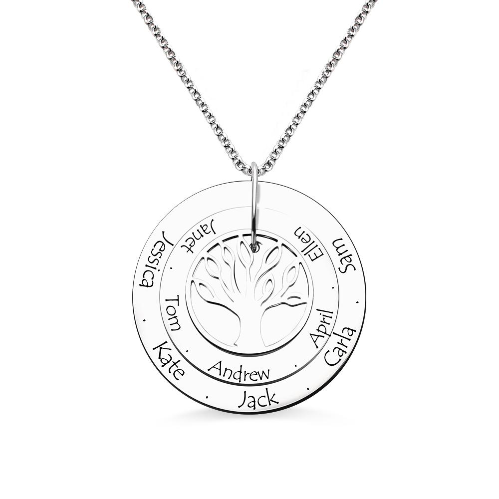 Name Custom Three Disc Name Custom Necklace Family Tree Pendant