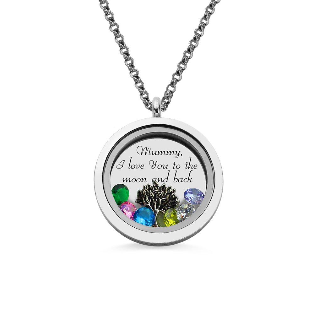 Mom & Grandma Family Tree Floating Living Locket